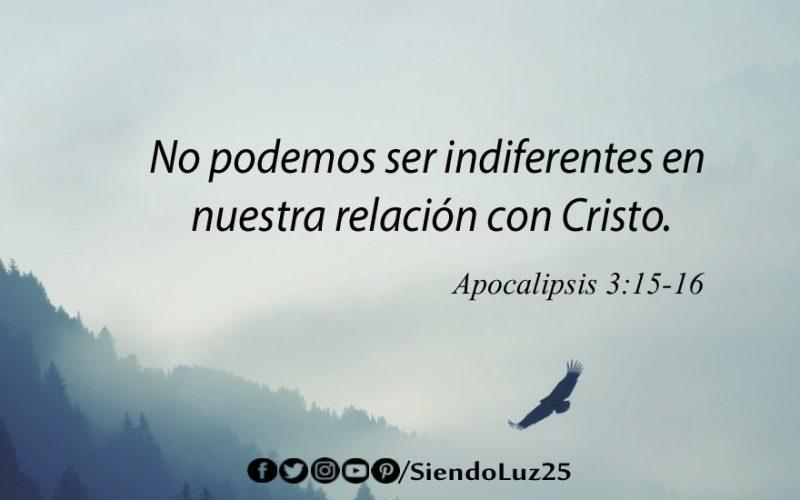 Indiferencia - Apocalipsis 3:15-16