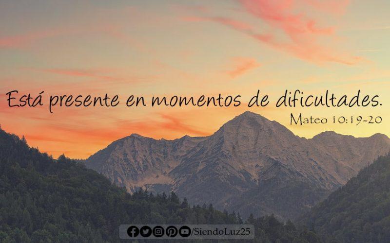 Mateo 10:19-20