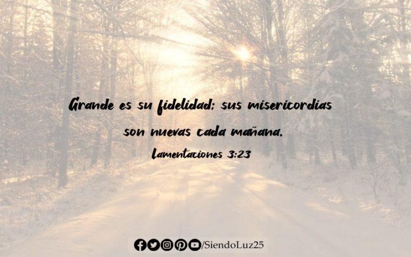 Lamentaciones 3:23