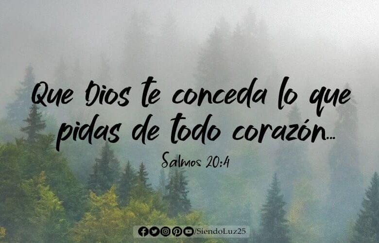 Que Dios te conceda lo que pidas de todo corazón