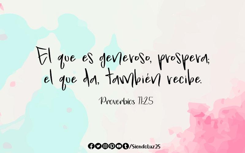 23 Versículos de la Biblia sobre la Generosidad